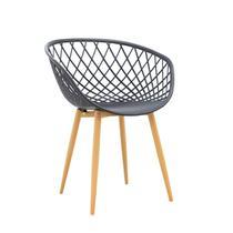 Cadeira com Braços Polipropileno Clarice Rivatti Preto -