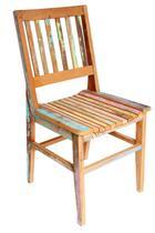 Cadeira Conforto Madeira Maciça de Demolição Peroba Rosa com Pátina - Móveis Decora
