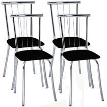 Cadeira Cromada 154 04 Unidades - Carraro - Carraro móveis