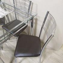 Cadeira cromada kit 4 unid. ass tabaco - Centro Do Movel