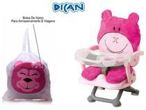 Cadeira de Alimentação Dican Hipopotamo Rosa Conforto e Segurança para A Refeição do Seu Bebê - Leve Junto uma Bolsa de Nylon para Transporte -