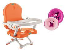 Cadeira de Alimentação Pocket Laranja  Bebeliê com Pratos -