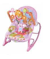Cadeira de Balanço e Descanso Vibratória para Bebê Musical com Vibração e Som Importway BW094 ROSA -