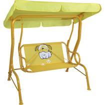 Cadeira De Balanço Infantil 2 Lugares Amarela Bulldog Mor -