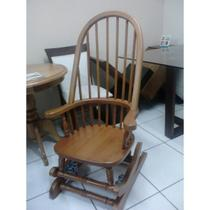 Cadeira De Balanço Madeira Maciça Alta 1,18 X 50 X 50 - Flávio Móveis Gramado