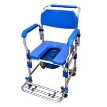 Cadeira de Banho Higiênica Reforçada com Assento Estofado e Coletor D60 Dellamed -