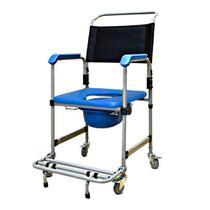 Cadeira de Banho Higiênica Reforçada com Assento Estofado Removível e Coletor D50 Dellamed -