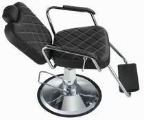 Cadeira de barbearia - Texas Dompel - Preto Croco -