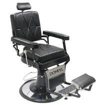 Cadeira De Barbeiro Reclinável Harley Profissional - Preto - Dompel