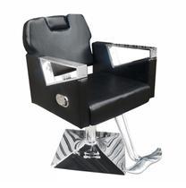 d4acc77b51 Cadeira de Barbeiro Reclinável Pelegrin Couro PU Preto PEL-S040