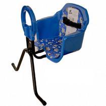 Cadeira De Bicicleta Bike Dianteira Frontal Cadeirinha Luxo Azul Oferta - Pojda