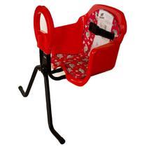 Cadeira De Bicicleta Bike Dianteira Frontal Cadeirinha Luxo Vermelha Oferta - Pojda