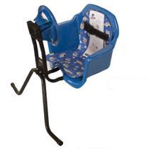 Cadeira De Bicicleta Dianteira Frontal Cadeirinha Com Volante Azul Oferta - Pojda