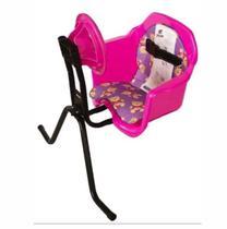 Cadeira De Bicicleta Dianteira Frontal Cadeirinha Com Volante Rosa Oferta - Pojda