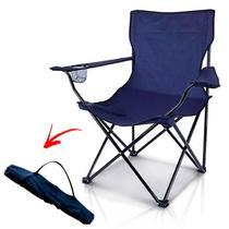 Cadeira de Camping Dobrável com Apoio de Braço e Porta Lata IMPORTWAY -
