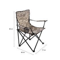 Cadeira de Camping/Pesca/ Viagens C/ Braço e Porta Copos Dobrável modelo Confort Araguaia Camuflada 169 Bel - Bel Fix