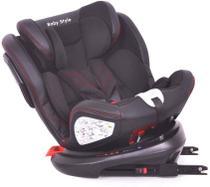 Cadeira de Carro Bebê 0 a 36kg Isofix Preto Baby Style -