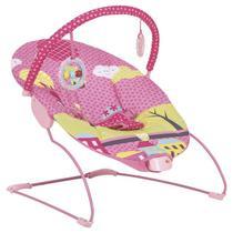 Cadeira de Descanso Bebe Vibra Joy Kiddo Rosa -