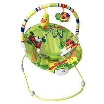 Cadeira de Descanso Bebê Vibratória Poly Verde Baby Style -