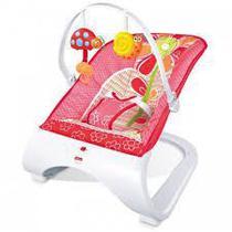 Cadeira de Descanso de Bebe Rosa Base Curva com Som Vibração Suporte 11,3KG Importway -