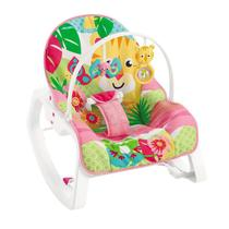 Cadeira de Descanso - Infant-to-Toddler Rocker - Tigre - Rosa - Fisher-Price - Mattel