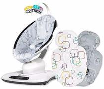 Cadeira de Descanso MAMAROO 4.0 Silver Plush + Almofada RN 4Moms -