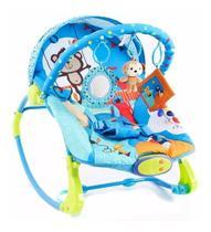 Cadeira De Descanso Musical e Vibratória - 3657 - Circo Divertido até 18 Kg - Azul - Dican -