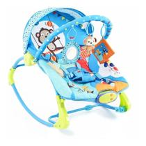 Cadeira De Descanso Musical E Vibratória Circo Divertido Azul - Dican -