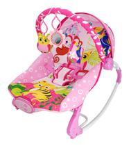 Cadeira De Descanso Musical e Vibratória - Corujinha até 18 Kg - Rosa - 3674 - Dican -
