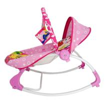 Cadeira De Descanso Musical e Vibratória Corujinha até 18 Kg Rosa 3674 Dican -