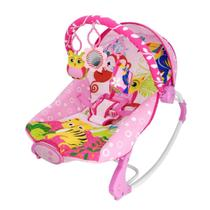 Cadeira De Descanso Musical Rosa Coruja Até 18 Kg 3674 Dican -