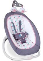 Cadeira De Descanso Musical Vibratória Dobravél 9kg Rosa C/Cinza Mastela -