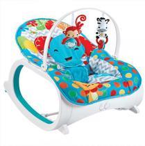 Cadeira de Descanso Musical, Vibratória e Balanço Safari Azul - Color Baby -