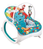 Cadeira de Descanso Musical Vibratória e Balanço Safari Color Baby Azul - Colorbaby