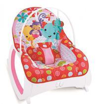 Cadeira de Descanso Musical, Vibratória e Balanço Safari Vermelha - Color Baby -