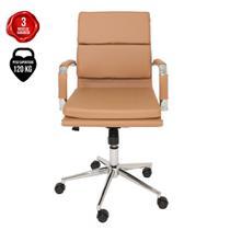 Cadeira De Escritório Giratória Diretor Eames Confort Caramelo - Cadeiras Inc