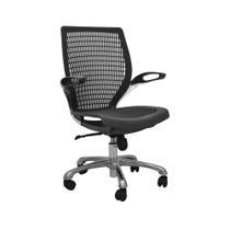 Cadeira de Escritório Hera Preta Assento Pto Base Slim - Rivatti