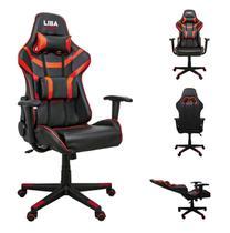 Cadeira De Escritório Liba Gamer Ergonômica Bnw0117 Vermelha -