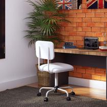 Cadeira de Escritório Secretária Color Fixa Corano Branco - Mobly