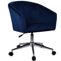 Cadeira de Escritório Shel 83x58x61cm Azul - Just Home Collection