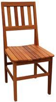 Cadeira de Madeira Maciça Rústica de Demolição Cambury - Decore Fácil Shop