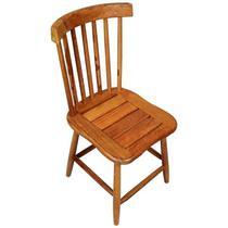 Cadeira de Madeira Maciça Rústica de Demolição Country Grande - Decore Fácil Shop