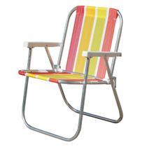 Cadeira de Praia Botafogo Varanda Alta Standart Alumínio -