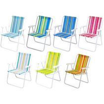 Cadeira de Praia e Piscina Alta 2002 Cores Variadas MOR -