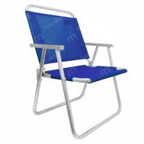 Cadeira de Praia em Aluminio Suporta Ate 130 Kg Varanda Xl Azul  Botafogo -