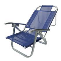 Cadeira de Praia Reclinável - Copacabana - Azul Royal  Botafogo -