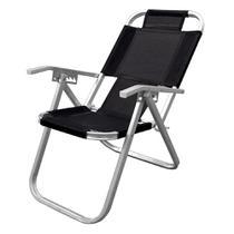 Cadeira de Praia Reclinavel Grand Ipanema Extra Alta - Preto - Botafogo -