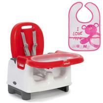 Cadeira de Refeiçao Infantil Bebê Mila + Babador Infantil Galzerano -