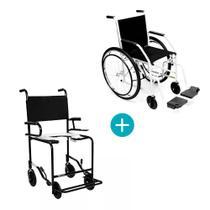 Cadeira de rodas 102 raiada cnz com cadeira de banho escam pt cds -
