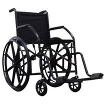 Cadeira De Rodas Cds 101 Cinza Rodas de Nylon Com Pneus Maciços -